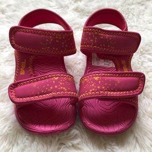 Teva Toddler Sandals Velcro Pink & Orange Size 6